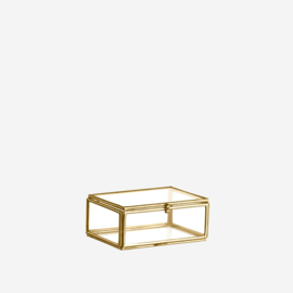 Madam Stoltz Glasbox Small goud