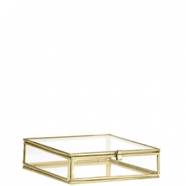 Madam Stoltz Glassbox goud / brass small