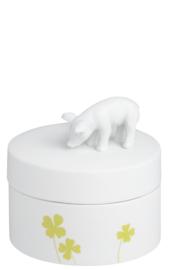 Räder Porcelain Stories Can Pig   voorraadpot varken