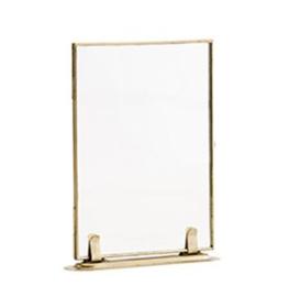 Madam Stoltz fotolijst staand / liggend goud / brass  13 x 18 cm