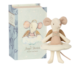 Maileg Angel Mouse Big Sister in Book / Grote zus engel in boek