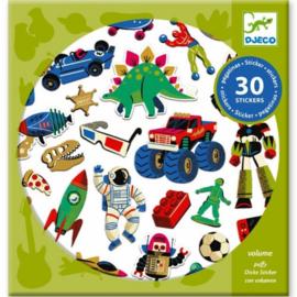 """Djeco Stickers  30 stuks """"Retro Toys"""""""