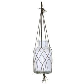 HKliving Hanging glass Vase L