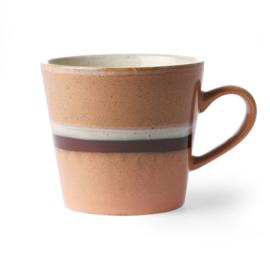 HKliving Ceramic 70's cappuccino mug Stream