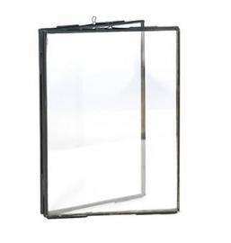 Madam Stoltz Fotolijst staand dubbel zwart 13 x 18 cm