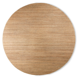 HKliving | Round woven hemp Rug (ø: 250cm)