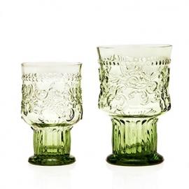 Van Verre Fleur de Lys Fijnzinnig glaswerk Wijnglas bokaal S green