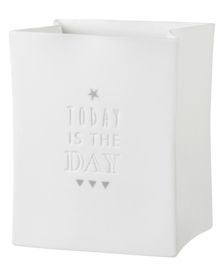 "Räder Porcelain Light Bag ""Today Is The Day"""
