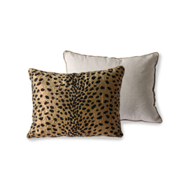 HKliving | Cushion Flock print Panther (30x40) Doris for HKliving