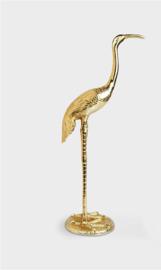 &Klevering Statue Crane bird 2 | KraanVogel beeld rechte nek