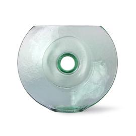 HKliving Glass Circle Vase   Cirkel vaas van glas