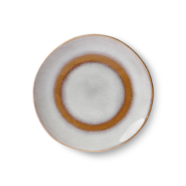 HKliving Ceramic 70's dessert plate Snow