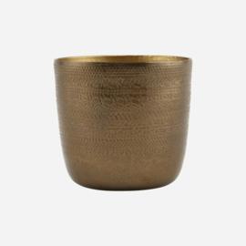 Society of LifeStyle | Bloempot, Chappra, Antique brass finish