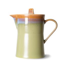 HKliving | 70's Ceramic Teapot / theepot | Peat