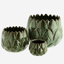 Madam Soltz Stoneware flowerpots