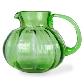 HKLiving | The Emeralds: glass Jug Green / Waterkan van glas groen