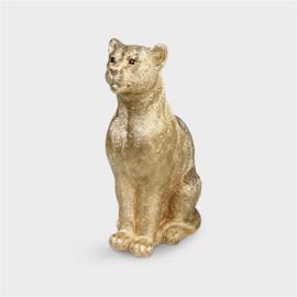 &Klevering Coinbank Leopard Gold | Spaarpot Luipaard goud
