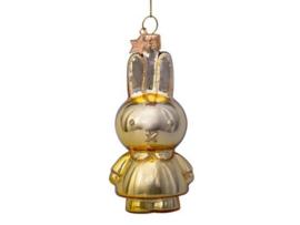 Vondels Ornament glas Nijntje Goud / Miffy allover shiny