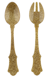 Sabre Paris Old Fashion Serving Set Glitter Gold