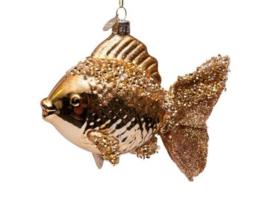 Vondels Ornament glas vis goud