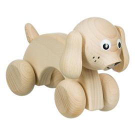Rolfiguur hondje | blank hout