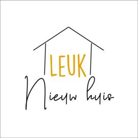 LEUK - vierkant 13x13 - LEUK nieuw huis