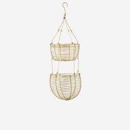 Madam Stoltz Hanging wire baskets D:12/14x38 cm