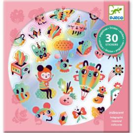 """Djeco Stickers 30 stuks  """"Hartjes en regenbogen"""""""