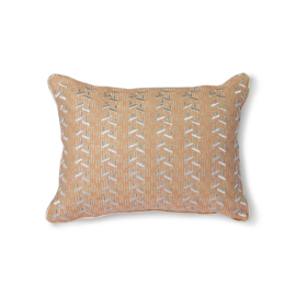 HKliving Nude Cushion with silver patches (30x40)
