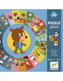 "Djeco Giant Puzzle The Day   Reuzenpuzzel ""de dag"" 3+"