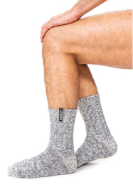 Soxs Man Jet Black Grey half high | sokken grijs halfhoog maat 42-46