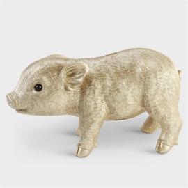 &Klevering Coinbank pig gold | Spaarpot varken goud