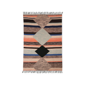 HKliving | Hand woven indoor/outdoor rug multicolour (120x180)