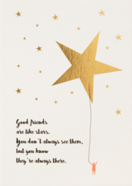 "Räder My Favorite person postcard - ""Good Friends are like Stars"""