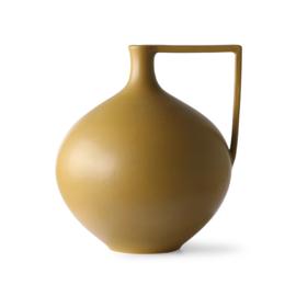HKlving Ceramic jar l mustard
