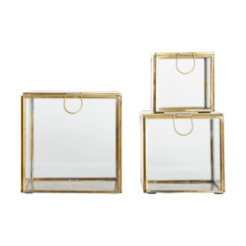 HouseDoctor Storage glasboxen brass (per set of per stuk)