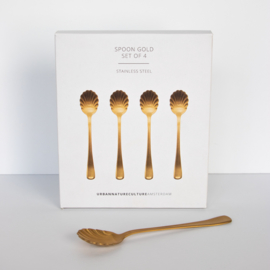 Urban Nature Culture | Good Morning Spoon Gold, set van 4 in gift pack