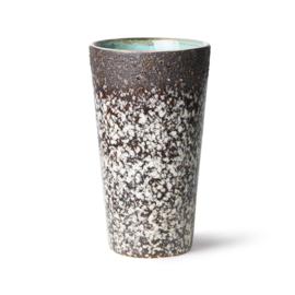 HKliving | 70's Ceramic Latte mug | Mud