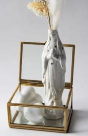 Atelier SAF | Maria Vaasje M | Wit met gouden hartjes