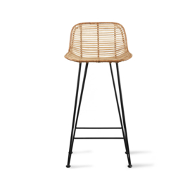 HKLiving Rattan Bar Stool naturel