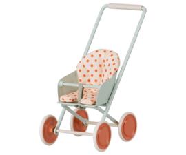 Maileg Stroller Micro Sky blue | kinderwagen lichtblauw