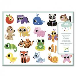 Djeco - grote stickers voor kleintjes