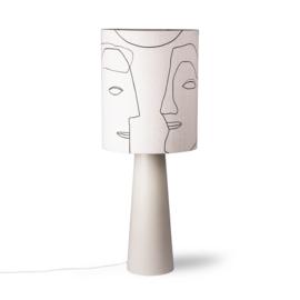 HKliving Printed Face Lampshade L
