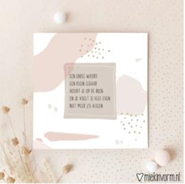 MIEKInVorm Dubbelkaart vierkant | Een enkel woord