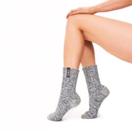 Soxs Woman Jet Black Grey half high | vrouwen sokken grijs halfhoog maat 37-41