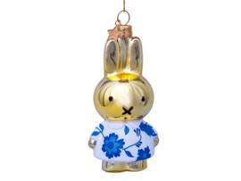 Vondels Ornament glas Nijntje in Delfts blauwe jurk | Miffy Delft blue dress