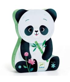 Djeco Silhouet puzzel Leo de Panda   24 stukjes