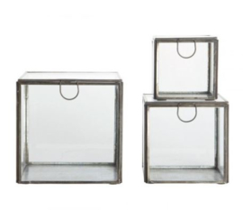 HouseDoctor Storage glasboxen Black (per set of per stuk)