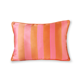 HKliving satin/velvet cushion orange/pink (35x50)