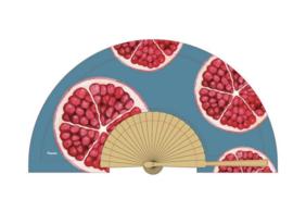 Fisura - Fan wood en textile - Pomegranate
